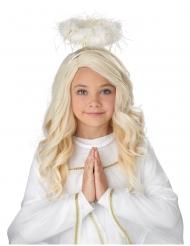 Engel-Perücke für Mädchen Weihnachts-Accessoire weiss