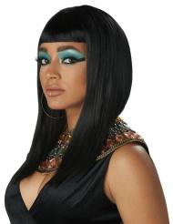 Ägyptische Königin Damen-Perücke mit Pony schwarz