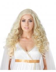 Luxuriöse Damenperücke lockig blond