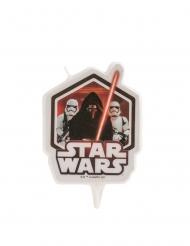 Star Wars™-Geburtstagskerze Kuchendeko für Geburtstage schwarz-weiß-rot 8 cm