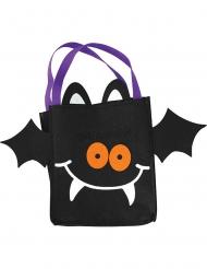 Fledermaus-Tragetasche Süßes oder Saures für Kinder schwarz