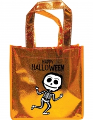 Happy Halloween-Tasche Süßes oder Saures orange-schwarz-weiss