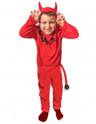 Teuflisches Kostüm für Kinder Halloween rot