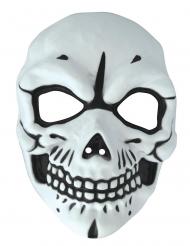 Skelett-Maske für Erwachsene Halloween-Zubehör schwarz-weiss