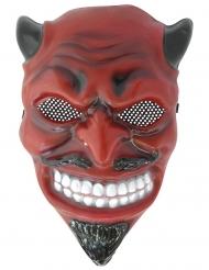 Traditionelle Teufelsmaske für Halloween rot-schwarz-weiss