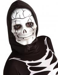 Skelett-Maske für Kinder Halloween-Zubehör schwarz-weiss