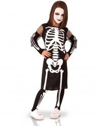 Süßes Skelett-Kostüm für Mädchen Halloween schwarz-weiss