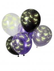 6 im Dunkeln leuchtende Fledermaus Luftballons