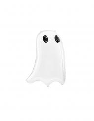 Gespenstischer Geister-Luftballon Halloween-Deko weiss 48x68cm