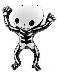 Skelett Folienballon schwarz-weiß 84x10 cm