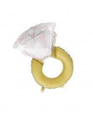 Folienballon-Verlobungsring Hochzeits-Dekoration gold-weiss 81 cm