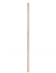 Strohhalme aus Pappkarton Tischdekoration 10 Stück rosé-gold 21 cm