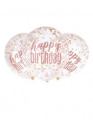 Happy Birthday-Latexballons mit Konfetti-Füllung 6 Stück bunt 30 cm