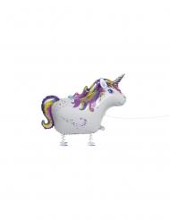 Einhorn-Folienballon Partydeko für Kindergeburtstage bunt 86cm