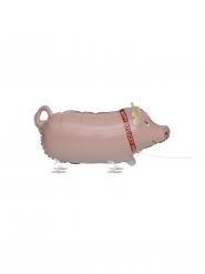 Glücksschwein-Ballon Partyzubehör Mitbringsel 61 cm rosa