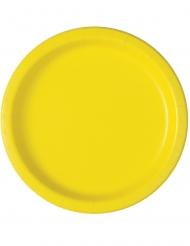Sonnige Pappteller gelb 16 Stück 23 cm