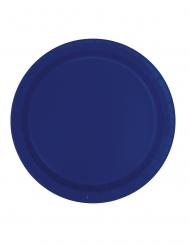 Party-Teller Tischdeko 16 Stück marineblau 23 cm