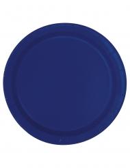 Pappteller 20 Stück dunkelblau 18 cm