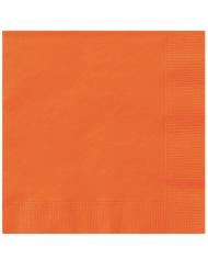 Papier-Servietten für Halloween Tischzubehör 20 Stück orange 25 x 25 cm