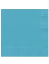 Papierservietten Partyzubehör für Festlichkeiten 20 Stück türkis 25 x 25 cm