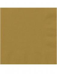 Papier-Servietten gold 20 Stück 25 x 25 cm