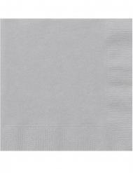Papier-Servietten für Festlichkeiten 20 Stück grau 25x25cm