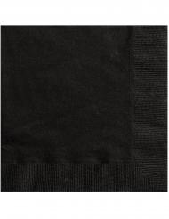 Düstere Papierservietten für eine Halloween-Party 20 Stück schwarz 25 x 25 cm