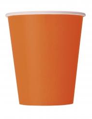 Trinkbecher Tischzubehör Party-Zubehör 14 Stück orange 266 ml