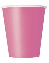 Pappbecher 8 Stück rosa 266ml