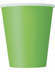 Pappbecher für Feierlichkeiten Tischzubehör 8 Stück grün 266 ml