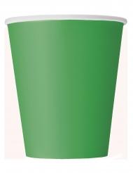 Einweg-Pappbecher für Partys 8 Stück grün 266 ml