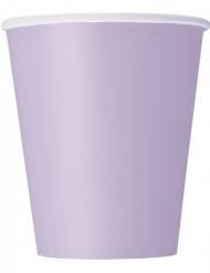 Pappbecher 8 Stück lavendel 266 ml