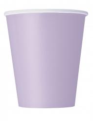 Pastellfarbene Pappbecher Partyzubehör 14 Stück lilafarben 266 ml