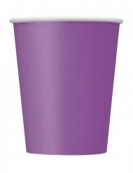 Party-Becher aus Pappkarton 8 Stück lilafarben 266 ml