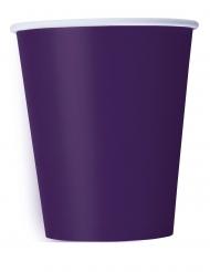 Pappbecher-Tischdeko für Festlichkeiten 14 Stück violett 266ml