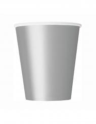 Pappbecher für Festlichkeiten Tischzubehör 8 Stück silber 266ml