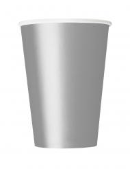Trinkbecher Party-Zubehör 14 Stück silber 266 ml