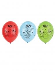 Bing™-Luftballons 6 Stück rot-blau-grün 27 cm