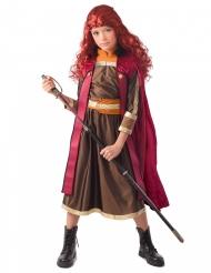 Prinzessinnen-Kostüm aus dem Norden Mädchen-Verkleidung braun-orange-rot