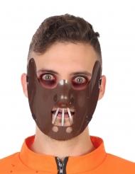Kannibalen-Makse für Erwachsene Halloween-Zubehör braun