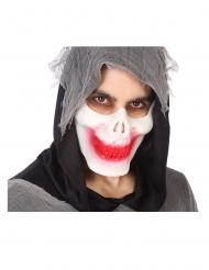 Skelett-Halbmaske für Halloween Kostüm-Zubehör weiss-rot