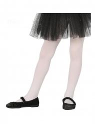 Weisse Strumpfhose für Kinder Kostüm-Accessoire weiss