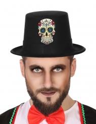Tag der Toten-Zylinder für Herren Halloween-Zubehör bunt