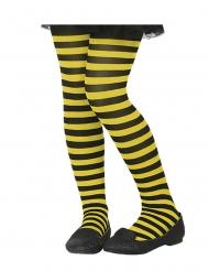 Ringelstrumpfhose für Kinder schwarz-gelb