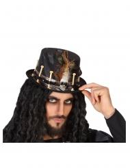 Exklusiver Voodoo-Hut mit Knochen für Erwachsene schwarz-beige-braun