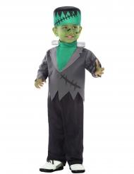 Kleines Monster Halloween-Kostüm für Kleinkinder schwarz-grau-grün