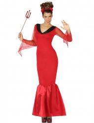 Teufel-Kostüm für Damen dämonische-Verkleidung rot