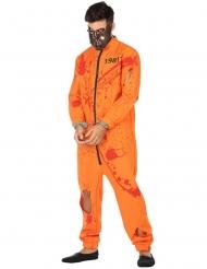 Blutiger Sträfling Halloween-Kostüm für Herren orange