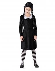 Gothic-Kostüm für Mädchen Halloween-Verkleidung schwarz-weiss