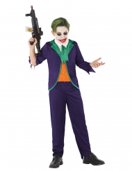 Psychopathen Harlekin-Kostüm für Jungen Halloween lila